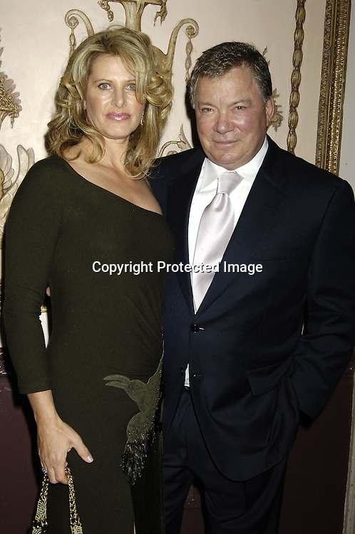 Elizabeth and William Shatner ..at The Broadcasting and Cable 15th Annual Hall of Fame..Awards Dinner at the Waldorf Astoria on October 24, 2005...The Awards are given by  Broadcasting and Cable Magazine.                                                                          Photo by Robin Platzer, Twin Images