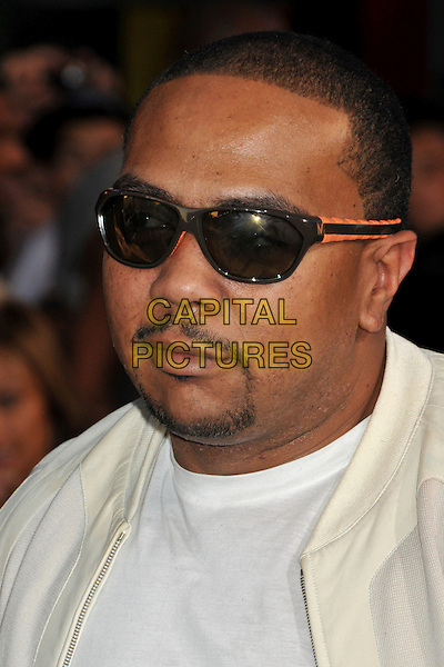 "TIM MOSLEY aka TIMBALAND .""G.I. Joe: The Rise Of Cobra"" Los Angeles Special Screening held at Grauman's Chinese Theatre, Hollywood, CA, USA, 6th August 2009..portrait headshot  sunglasses white t-shirt beard facial hair goatee Timothy .CAP/ADM/BP.©Byron Purvis/Admedia/Capital Pictures"