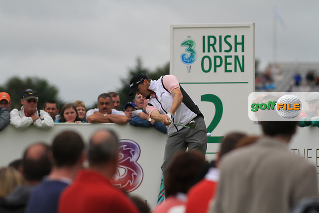 Michael Hoey teeing off on the second tee on the final day of the 3 Irish Open, at the Killarney Golf and Fishing Club, Killarney, Ireland.Picture Fran Caffrey/www.golffile.ie.
