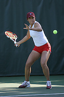 STANFORD, CA - JANUARY 30:  Jennifer Yen of the Stanford Cardinal during Stanford's 6-1 win over the Colorado Buffaloes in the ITA Indoor Qualifying on January 30, 2009 at the Taube Family Tennis Stadium in Stanford, California.