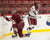 Megan Keller (BC - 4), Sydney Daniels (Harvard - 25) - The visiting Boston College Eagles defeated the Harvard University Crimson 2-0 on Tuesday, January 19, 2016, at Bright-Landry Hockey Center in Boston, Massachusetts.
