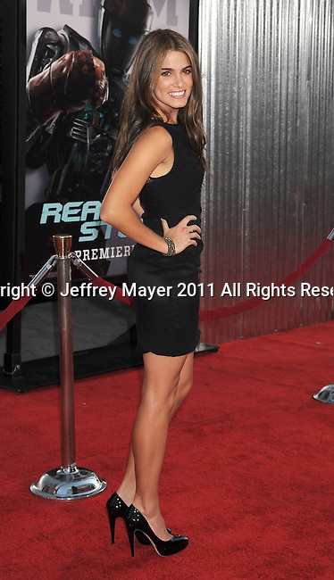 """UNIVERSAL CITY, CA - OCTOBER 02: Nikki Reed attends the """"Real Steel"""" Los Angeles Premiere at Gibson Amphitheatre on October 2, 2011 in Universal City, California."""