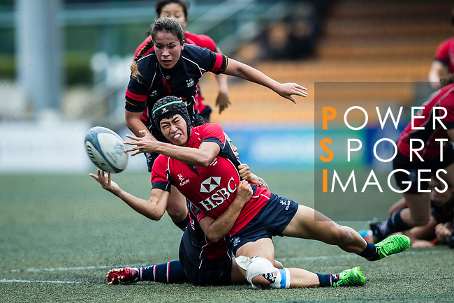 Poon Ka Yan of Lions (C) in action during the Women's National Super Series 2017 on 13 May 2017, in Hong Kong Football Club, Hong Kong, China. Photo by Marcio Rodrigo Machado / Power Sport Images