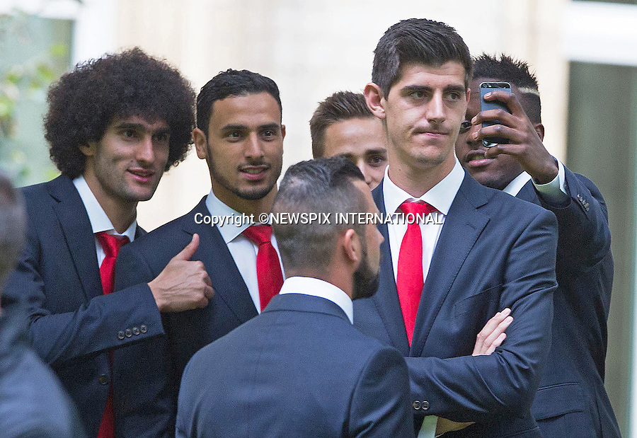 DIVOCK ORIGI DOES A SELFIE<br /> QUEEN MATHILDE AND KING PHILIPP<br /> meet members of the Belgian World Cup Football Team at the Royal Palace, Brussels_08/07/2014<br /> Mandatory Credit Photo: &copy;NEWSPIX INTERNATIONAL<br /> <br /> **ALL FEES PAYABLE TO: &quot;NEWSPIX INTERNATIONAL&quot;**<br /> <br /> IMMEDIATE CONFIRMATION OF USAGE REQUIRED:<br /> Newspix International, 31 Chinnery Hill, Bishop's Stortford, ENGLAND CM23 3PS<br /> Tel:+441279 324672  ; Fax: +441279656877<br /> Mobile:  07775681153<br /> e-mail: info@newspixinternational.co.uk