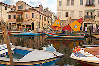 Fishing Boats on Riva Vena canal - Chioggia - Venice - Italy