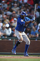 SAN FRANCISCO, CA - MAY 21:  Dexter Fowler #24 of the Chicago Cubs bats against the San Francisco Giants during the game at AT&T Park on Saturday, May 21, 2016 in San Francisco, California. Photo by Brad Mangin
