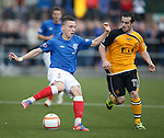 Barrie McKay turns inside David Murray of Annan