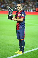 02.09.2012 SPAIN -  La Liga 12/13 Matchday 3th  match played between F.C. Barcelona vs Valencia C.F. (1-0) at Nou Camp stadium. The picture show Andres Iniesta Lujan (Spanish midfielder of Barcelona)