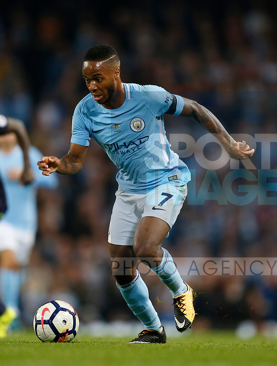 Raheem Sterling of Manchester City during the Premier League match at the Eithad Stadium, Manchester. Picture date 21st August 2017. Picture credit should read: Simon Bellis/Sportimage