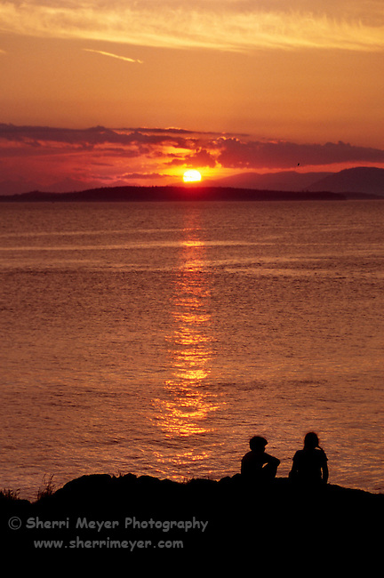 Children enjoying the sunset at San Juan County Park
