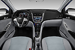 Stock photo of straight dashboard view of 2017 Hyundai Accent SE 4-Door 6-Speed Automatic 4 Door Sedan Dashboard