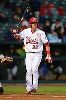 Peoria Chiefs designated hitter Carson Kelly #38 during a game against the Wisconsin Timber Rattlers on May 25, 2013 at Dozer Park in Peoria, Illinois.  Peoria defeated Wisconsin 6-0.  (Mike Janes/Four Seam Images)