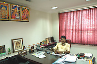 Mr. A Shaktivel President of  Tirupur Exporter's Association, Tamilnadu. After lifting of quota system in textile export on 1st january 2005. Tirupur has become the biggest foreign currency earning town of India.