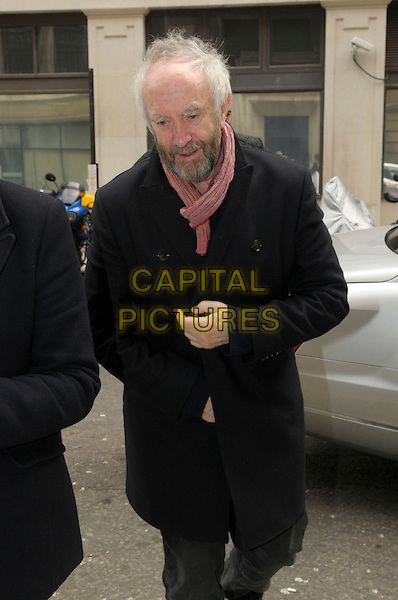 Jonathan Pryce.arriving at BBC Radio 2 London, England, UK, 20th March 2013..half length red pink scarf black coat beard facial hair .CAP/IA.©Ian Allis/Capital Pictures.