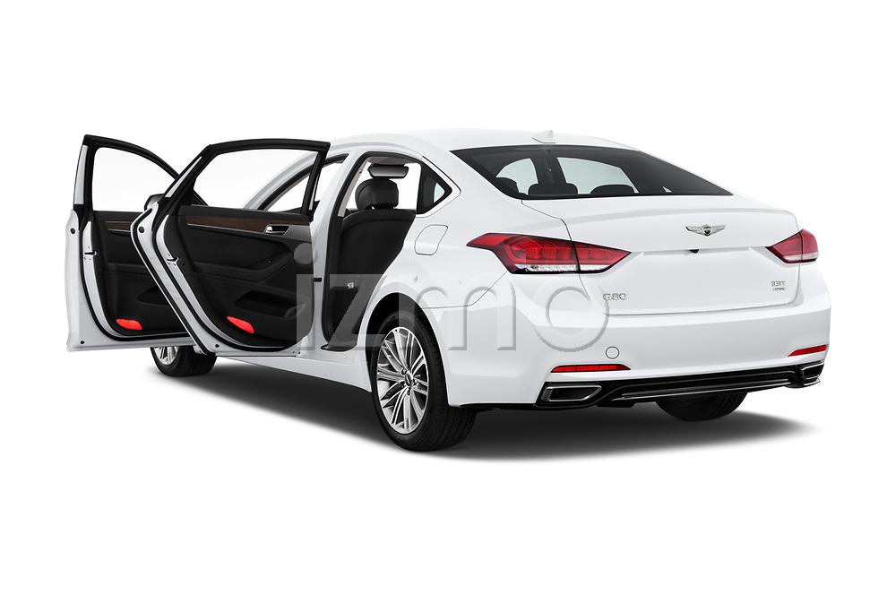 Car images close up view of a 2019 Genesis G80 RWD 4 Door Sedan doors