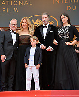 Thierry Fremaux, John Travolta, Kelly Preston &amp; children Benjamin Travolta &amp; Ella Travolta at the gala screening for &quot;Solo: A Star Wars Story&quot; at the 71st Festival de Cannes, Cannes, France 15 May 2018<br /> Picture: Paul Smith/Featureflash/SilverHub 0208 004 5359 sales@silverhubmedia.com