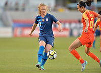 Sandy, Utah - Thursday June 07, 2018: Samantha Mewis during an international friendly match between the women's national teams of the United States (USA) and China PR (CHN) at Rio Tinto Stadium.