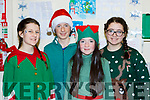 Ella O'Donnell, Adain Hill, Caithlin Horgan and Severina Masson waiting for Santa visit to Castlemaine Resource Centre on Sunday
