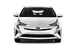 Car photography straight front view of a 2017 Toyota Prius Two 5 Door Hatchback Front View
