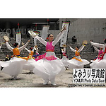 May 24th, 2002 : Tokyo, Japan - The Korean Culture Exhibiton is held for the 2002 Soccer World Cup. Girls are performing traditional Korean dances at the Tokyo Opera City, Shinjuku. (Photo by Kenichi Matsuda)