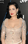 Dita Von Teese arriving at the W Hotels Turn It Up For Change Ball to Benefit Human Rights Campaign at W Hollywood on February 5, 2015