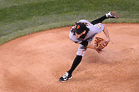 18 APRIL 2011: San Francisco Giants starting pitcher Tim Lincecum (55) went 7 2/3 innings and had a no-hitter going into the 7th inning striking out 10 during a regular season game between the San Francisco Giants and the Colorado Rockies at Coors Field in Denver, Colorado. The Giants beat the Rockies 8-1. *****For Editorial Use Only*****