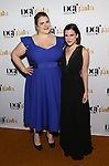 Bonnie Milligan and Alexandra Socha attends 2017 Dramatists Guild Foundation Gala reception at Gotham Hall on November 6, 2017 in New York City.