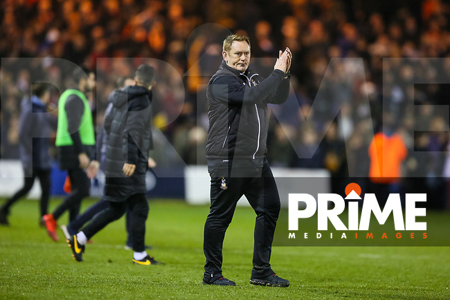Bradford City head coach David Hopkin after Bradford City are beaten 4-0 during the Sky Bet League 1 match between Luton Town and Bradford City at Kenilworth Road, Luton, England on 27 November 2018. Photo by Thomas Gadd.