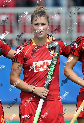 2013-07-14 / Hockey / seizoen 2013 / Dames Belgi&euml; / Stephanie De Groof<br /><br />Foto: Mpics.be