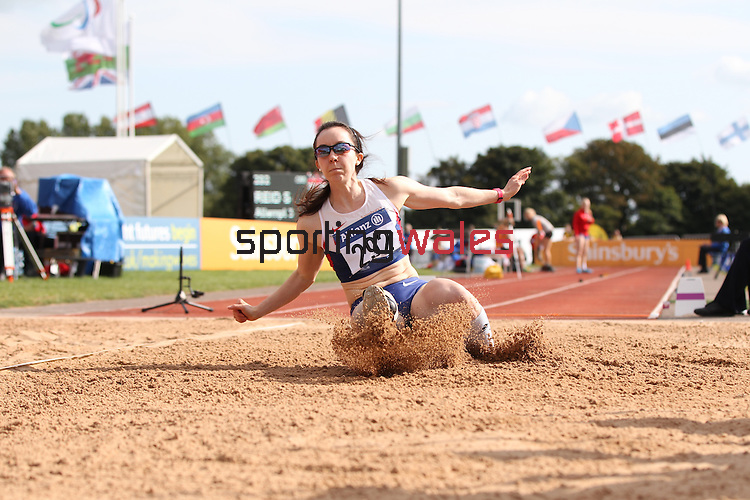 IPC European Athletics Championship 2014<br /> Stef Reid GBR competing in the women's long jump T44.<br /> Swansea University<br /> <br /> 22.08.14<br /> &copy;Steve Pope-SPORTINGWALES