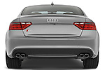 Straight rear view of a 2007 - 2011 Audi S5 Coupe.