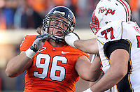 Nov 13, 2010; Charlottesville, VA, USA; Virginia Cavaliers defensive tackle Nick Jenkins (96) during the game against the Maryland Terrapins at Scott Stadium. Maryland won 42-23.  Mandatory Credit: Andrew Shurtleff