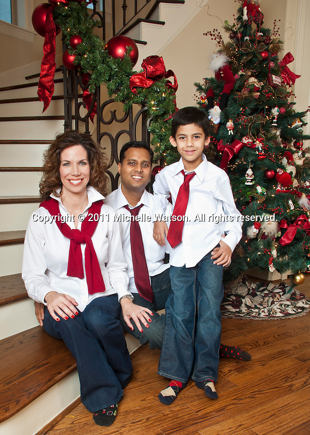 The Shah Family Holiday Portrait