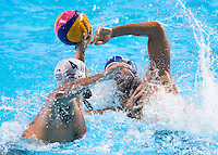 AICARDI Matteo ITA and GENIDOUNIAS Konstantinos GRE<br /> GREECE vs ITALY<br /> GRE vs ITA<br /> Waterpolo - Men's 3rd-4th place <br /> Day 16 08/08/2015<br /> XVI FINA World Championships Aquatics Swimming<br /> Kazan Tatarstan RUS July 24 - Aug 9 2015 <br /> Photo Giorgio Perottino/Deepbluemedia/Insidefoto
