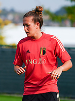 20200911 - TUBIZE , Belgium : Justine Gomboso pictured during a training session of the Belgian Women's National Team, Red Flames , on the 11th of September 2020 in Tubize. PHOTO SEVIL OKTEM | SPORTPIX.BE