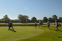 Laura Davies (ENG), Azahara Munoz (ESP), and Juli Inkster (USA) head down 3 during round 1 of the 2018 KPMG Women's PGA Championship, Kemper Lakes Golf Club, at Kildeer, Illinois, USA. 6/28/2018.<br /> Picture: Golffile | Ken Murray<br /> <br /> All photo usage must carry mandatory copyright credit (&copy; Golffile | Ken Murray)