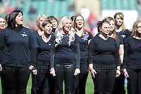 Twickenham, London, England. Sat 27th April 2013. The Military Wives choir during the pre match entertainment at  Army v Navy Babcock trophy rugby. Credit for pictures to Jeff Thomas Photography - www.jaypics.photoshelter.com - 07837 386244 - Use of images are restricted without prior permission of the copyright owner Jeff Thomas Photography.