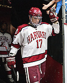 Sean Malone (Harvard - 17) - The Harvard University Crimson defeated the Princeton University Tigers 3-2 on Friday, January 31, 2014, at the Bright-Landry Hockey Center in Cambridge, Massachusetts.