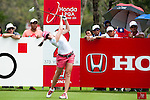 CHON BURI, THAILAND - FEBRUARY 17:  Paula Creamer of USA tees off on the 2nd hole during day one of the LPGA Thailand at Siam Country Club on February 17, 2011 in Chon Buri, Thailand.  Photo by Victor Fraile / The Power of Sport Images