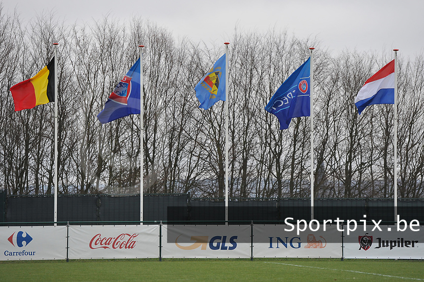 20190206 - TUBIZE , BELGIUM : illustration pictured during the friendly female soccer match between Women under 17 teams of  Belgium and The Netherlands , in Tubize , Belgium . Wednesday 6th February 2019 . PHOTO SPORTPIX.BE DIRK VUYLSTEKE