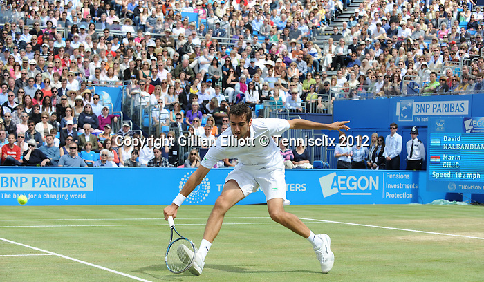 Marin Cilic (CRO) wins on a defalult in the finals at Aegon Championships.