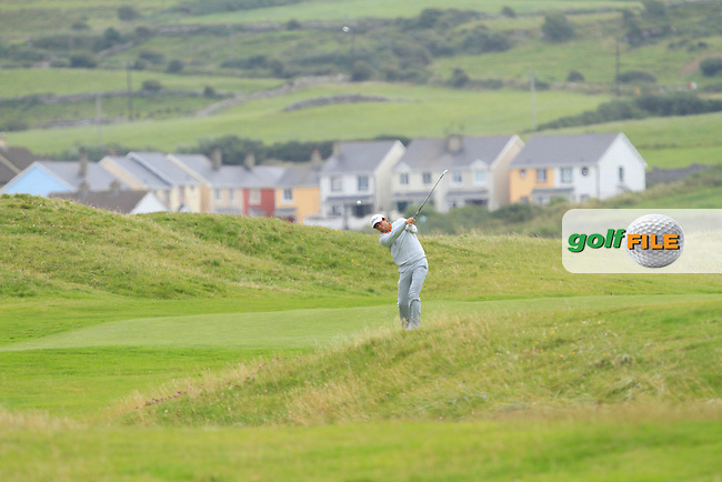 Robert Canon (Balbriggan) on the 3rd during Round 2 of The South of Ireland in Lahinch Golf Club on Sunday 27th July 2014.<br /> Picture:  Thos Caffrey / www.golffile.ie