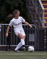 Boston College forward Alaina Beyar (17) clears the ball.  Boston College defeated North Carolina State,1-0, on Newton Campus Field, on October 23, 2011.