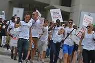 July 24, 2012  (Washington, DC)  Thousands march for HIV/AIDS awareness during the International AIDS Conference in Washington, D.C.    (Photo by Don Baxter/Media Images International)