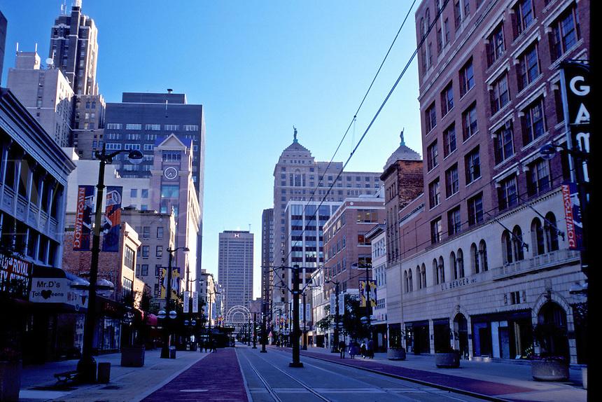Buffalo, New York, NY, Main Street a pedestrian street in downtown Buffalo.