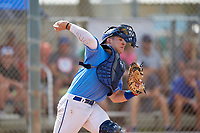 Catcher Alek Boychuk (12) during the WWBA World Championship at the Roger Dean Complex on October 10, 2019 in Jupiter, Florida.  Alek Boychuk is a catcher from Buford, Georgia who attends Mill Creek High School and is committed to South Carolina.  (Mike Janes/Four Seam Images)
