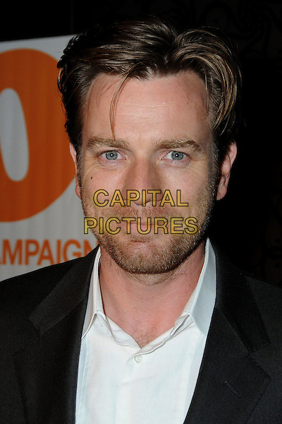 "EWAN McGREGOR.At Go Campaign's 2nd Annual ""Go Go Gala"" held at Social, Hollywood, California, 20th November 2009..portrait headshot white shirt beard facial hair eye contact grey gray .CAP/ADM/BP.©Byron Purvis/Admedia/Capital Pictures"