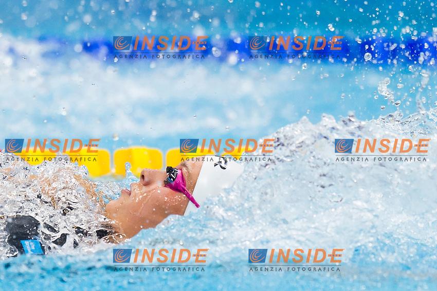 NIELSEN Mie Oe. DEN Gold medal<br /> London, Queen Elizabeth II Olympic Park Pool <br /> LEN 2016 European Aquatics Elite Championships <br /> Swimming<br /> Women's 100m backstroke final  <br /> Day 11 19-05-2016<br /> Photo Giorgio Perottino/Deepbluemedia/Insidefoto