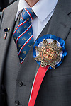 Long Sutton Friendly Society annual Club Walk Day. 2019. David Crossman proudly wears the Secretary's unique embossed rosette and ribbon.
