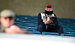 A Sheffield United fan before the start of the championship match at The Den Stadium, Millwall. Picture date 2nd December 2017. Picture credit should read: Robin Parker/Sportimage